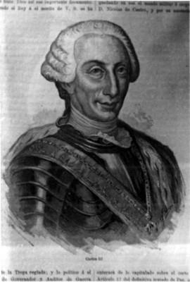 Carlos III de España, reprografía de una litografía