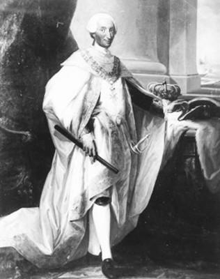 Carlos III, pintura al óleo