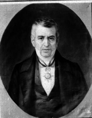Manuel de la Peña y Peña, abogado y presidente, pintura de caballete, retrato