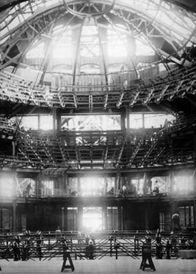 Teatro Nacional en construcción, interior
