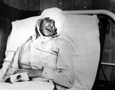 Jacques Monard Vandendresched en la habitación de un hospital, retrato