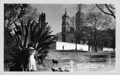 Santuario de Ocotlán Tlaxcala, Tlax., vista frontal