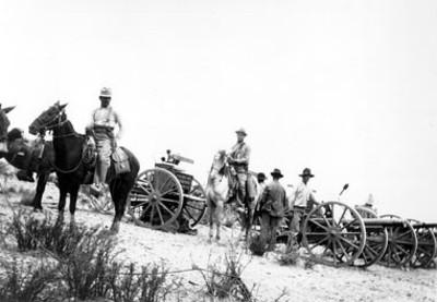 Artillería de los rebeldes antes de los combates de Torréon