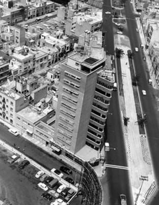 Agencia de automoviles Wolkswagen, vista aérea