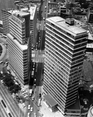 Edificios en la ciudad de México, vista aérea