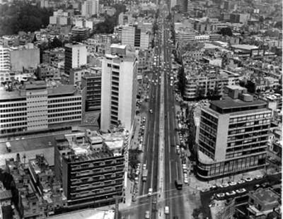 """Avenida """"Insurgentes"""" y alrededores, panorámica"""