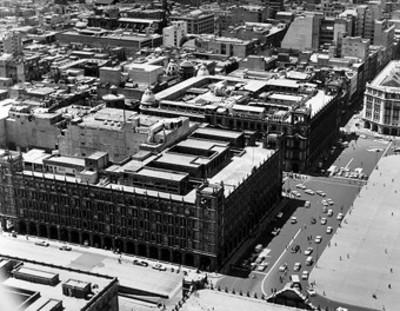 Edificios del Ayuntamiento Municipal y alrededores, vista aérea