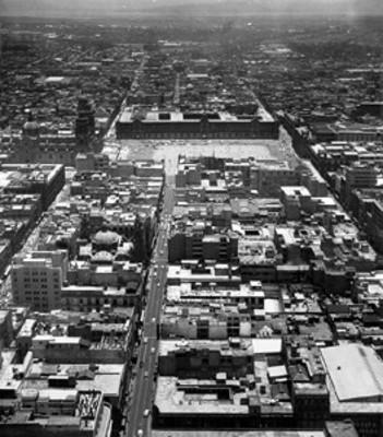Zócalo y sus alrededores, vista aérea