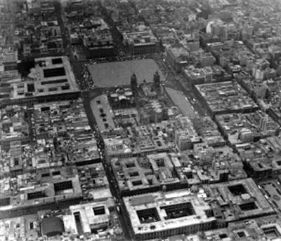 Catedral y alrededores, vista aérea