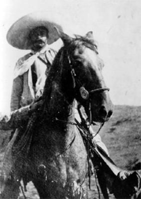 Emiliano Zapata a caballo, retrato