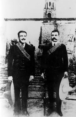 Emiliano Zapata y J.F. del Valle, retrato