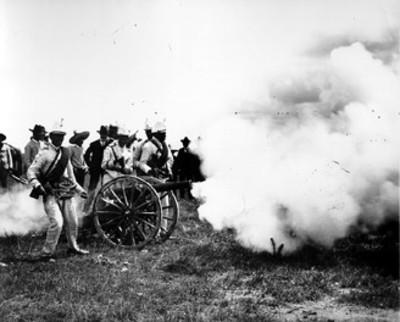 Artilleria federal en maniobras