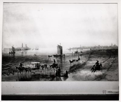 Puerto de Veracruz, litografía