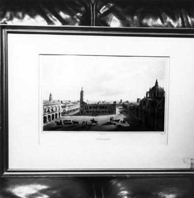 Plaza de armas de Veracruz, litografía
