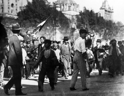 Francisco I. Madero, presidente, llega al Palacio Nacional