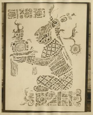 Relieve procedente de Palenque, calca