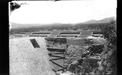 Trabajos de restauración en la Ciudadela de Teotihuacán, reprografía