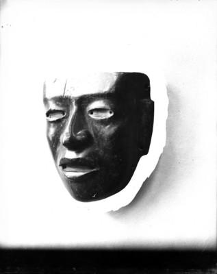 Máscara prehispánica, detalle