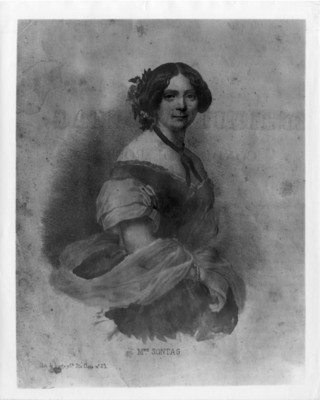 Cantante Madame Sontag, Litografía de Iriarte, reprografía
