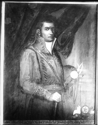 """""""José María Morelos"""" y Pavón, pintura al óleo, reprografía"""
