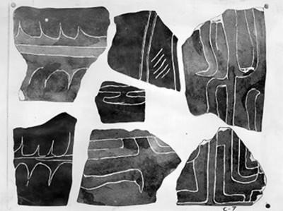 Grabados de la excavación de Copilco