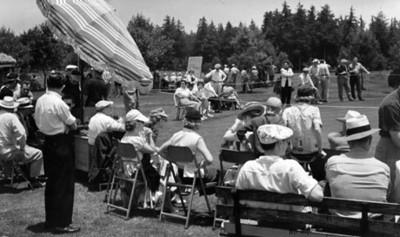 Público durante un encuentro de golf