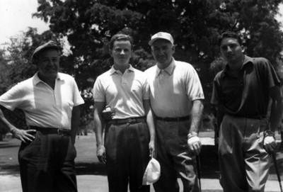 Leo Tomacelli, Carlos Porras, Frank Pastor, José Luis Ortega Golfistas, Retrato de Grupo