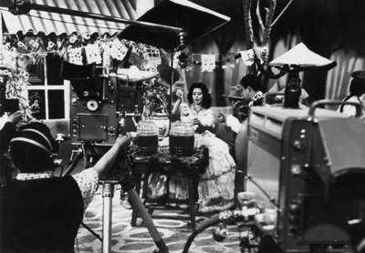 Actores durante grabación en instalaciones de televicentro