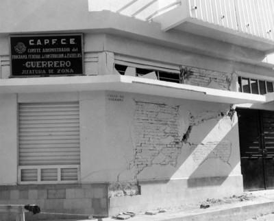 Edificio deteriorado por un terremoto