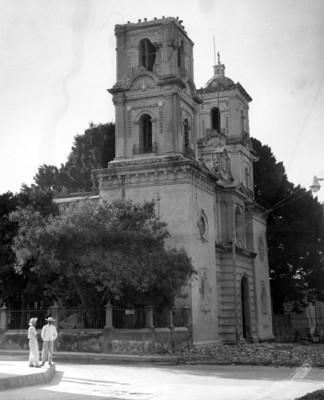 Iglesia en restauración, vista parcial