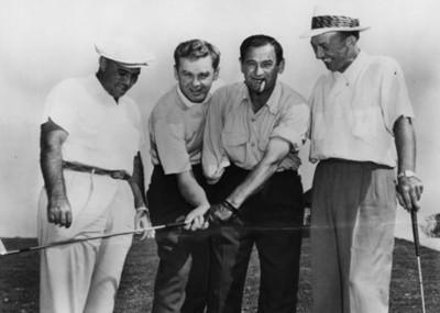 Golfistas, retrato de grupo