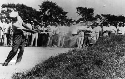 Golfista durante torneo