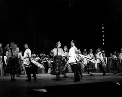 Bailarinas en una puesta en escena