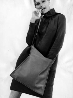 Modelo luce abrigo y bolso, retrato