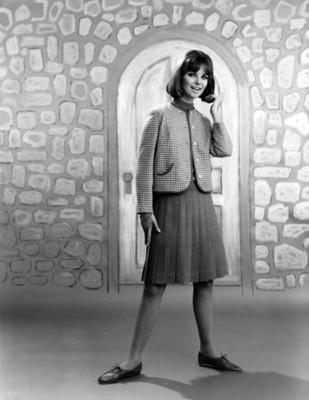 Mujer luce falda tableada, retrato