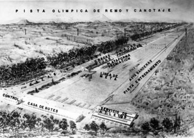 Diseño de la pista olimpica de remo y canotaje