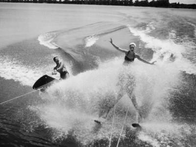 Esquiadores acuáticos durante una práctica