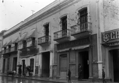 Casa de Aquiles Serdán en la calle de Santa Clara, fachada