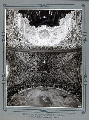 Capilla del Rosario, cúpula interior Detalle de los lunetos del crucero, Bóveda