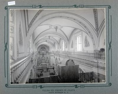 Nave principal, vista hacía el altar mayor