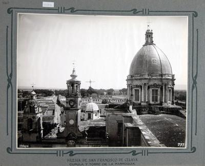 Cúpula y torre de la parroquia de San Francisco en Celaya