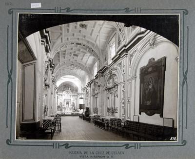 Vista hacia el Altar Mayor desde el sotocoro de la Iglesia de la Cruz
