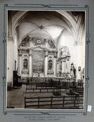 Altar lateral del lado norte de la Iglesia del Tercer Orden