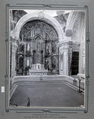 Altar dedicado a la Virgen de Guadalupe en la Catedral de Tlaxcala