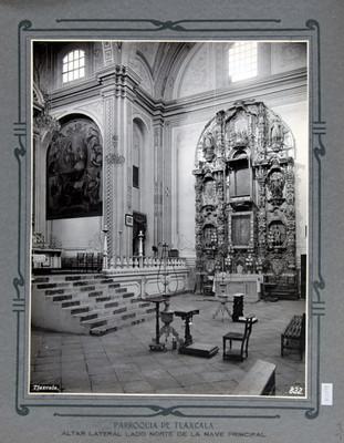 Catedral de Tlaxcala, retablo lateral dedicado a la Virgen de Guadalupe