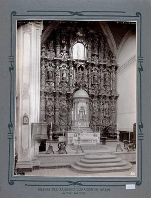 Retablo del altar Mayor de la Iglesia de la Asunción y del Sagrado Corazón