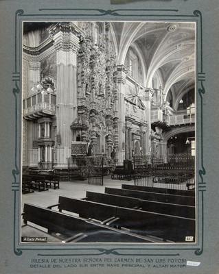 Detalle de los Altares del lado Sur y Coro