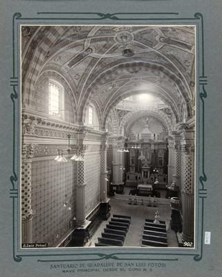 Vista de la Nave principal y Altar Mayor del Santuario de Guadalupe