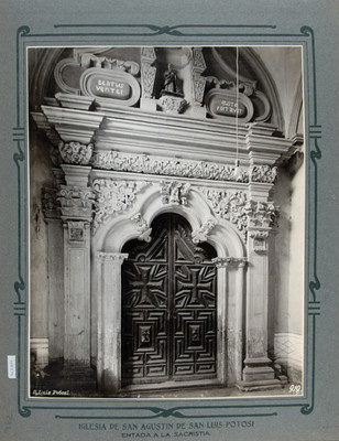 Puerta de acceso a la Sacristía de la Iglesia de San Agustín