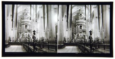"""""""Interior de la Catedral de México"""", vista del Ciprés"""